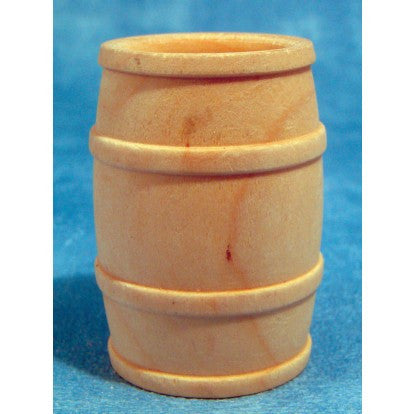 Dolls House Miniature Barrel, Whitewood Furniture - The Dolls House Store