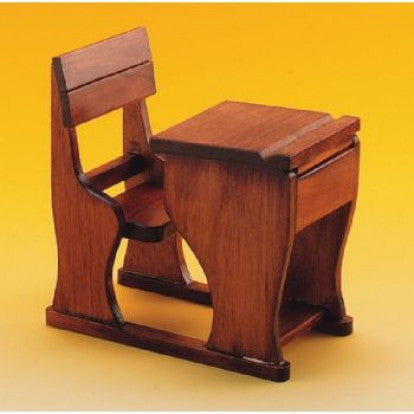 Dolls House Miniature School Desk & Seat, Study - The Dolls House Store