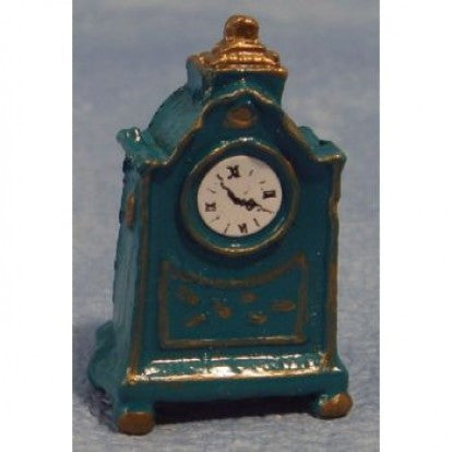 Dolls House Miniature Blue Mantel Clock, Clocks - The Dolls House Store