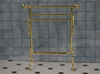 Dolls House Miniature Cheap Brass Towel Rail, Bathroom - The Dolls House Store