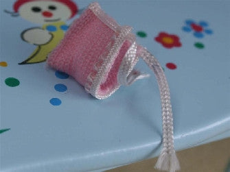 Dolls House Miniature Baby Bonnet - Pink, Nursery - The Dolls House Store
