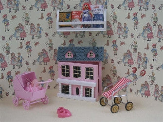 Dolls House Miniature 6pc Girls Pink Toys Play Set, Nursery - The Dolls House Store
