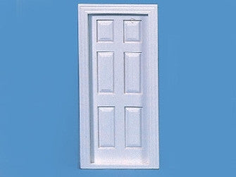 Dolls House Miniature White Painted C02 Door, Doors and Windows - The Dolls House Store