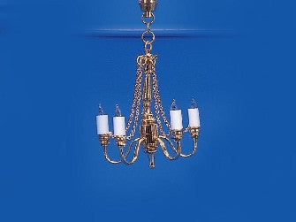 Dolls House Miniature 5 Arm Chain Chandelier, Lighting - The Dolls House Store