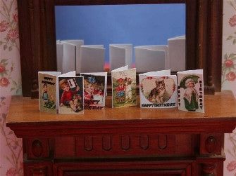 Dolls House Miniature Birthday Cards, Study - The Dolls House Store