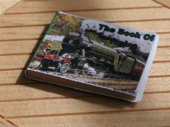 Dolls House Miniature Green Train Book, Study - The Dolls House Store