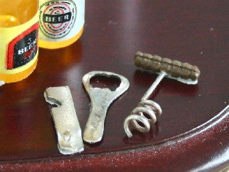 Dolls House Miniature Set Of 3 Bottle Openers, Pub - The Dolls House Store