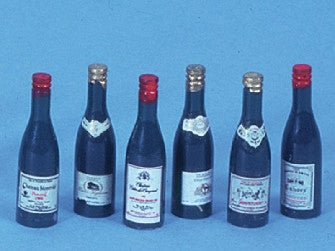 Dolls House Miniature Set Of 6 Wine, Pub - The Dolls House Store