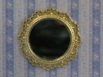 Dolls House Miniature Round Mirror, Hall - The Dolls House Store
