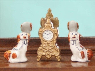 Dolls House Miniature French Clock, Clocks - The Dolls House Store