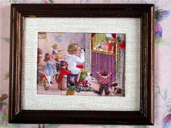 Dolls House Miniature Puppet Show - Brown Frame, Accessories - The Dolls House Store