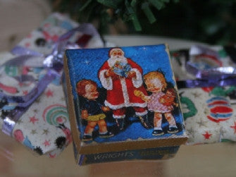 Dolls House Miniature Christmas Santa Tin, Christmas - The Dolls House Store