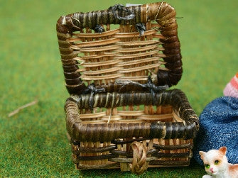 Dolls House Miniature Picnic Hamper Two Tones, Accessories - The Dolls House Store