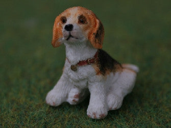 Dolls House Miniature Baby Beagle, Garden - The Dolls House Store