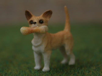 Dolls House Miniature Chihuahua With Bone, Miscellaneous - The Dolls House Store