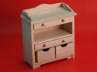 Dolls House Miniature Barewood storage chest, Whitewood Furniture - The Dolls House Store