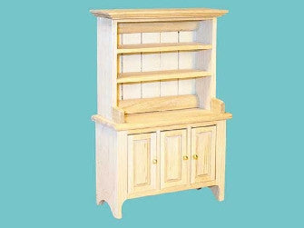 Dolls House Miniature Barewood Dresser, Whitewood Furniture - The Dolls House Store