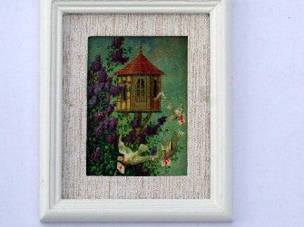 Dolls House Miniature Dove Cote - White Frame, Fireside - The Dolls House Store