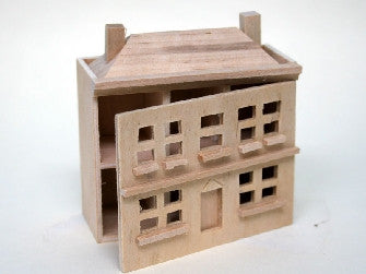 Dolls House Miniature Barewood dollshouse, Whitewood Furniture - The Dolls House Store