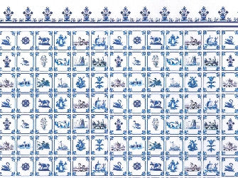 Dolls House Miniature Antique Dutch Tile Wallpaper, Wallpaper - The Dolls House Store