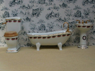 Dolls House Miniature Bathroom Set, Bathroom - The Dolls House Store