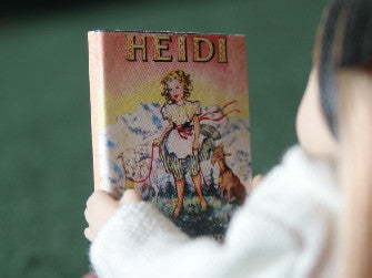Dolls House Miniature Heidi Book, Study - The Dolls House Store