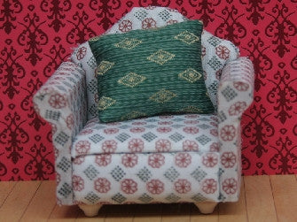 Dolls House Miniature Arm Chair, Living Room - The Dolls House Store