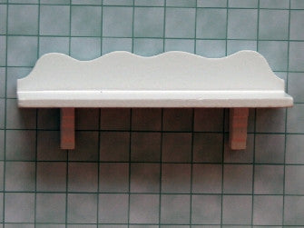 Dolls House Miniature Wall Shelf in White, DIY - The Dolls House Store