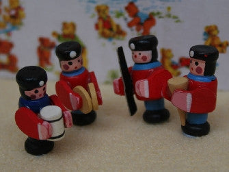 Dolls House Miniature 4 Soldiers  (Previously in set BS23), Nursery - The Dolls House Store