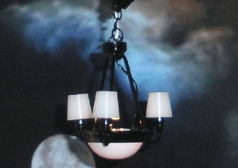 Dolls House Miniature Black Palace Chandelier, Lighting - The Dolls House Store