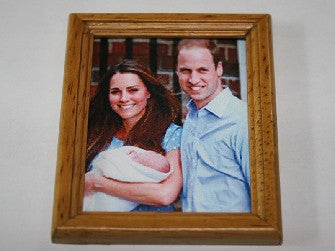 Dolls House Miniature Birth of Prince George, Paintings - The Dolls House Store