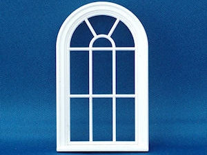 Dolls House Miniature 24th Scale Victorian 10 pane rounded top window, Accessories - The Dolls House Store