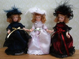 Dolls House Miniature Victorian China Doll - One Piece -  assorted colours., Dolls and Resin Figures - The Dolls House Store