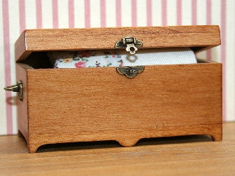 Dolls House Miniature Blanket Box, Bedroom - The Dolls House Store
