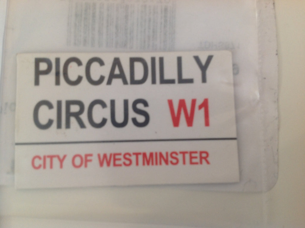 Piccaddilly Circus Street Sign
