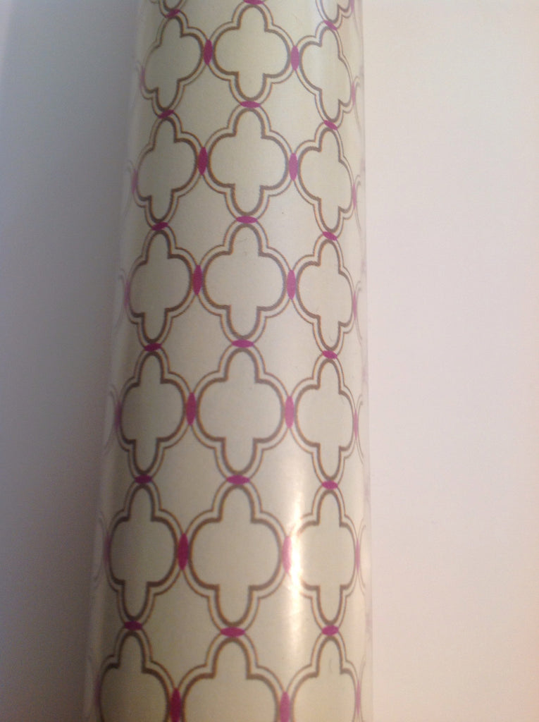 Cream And Pink Eastern Tile Wallpaper