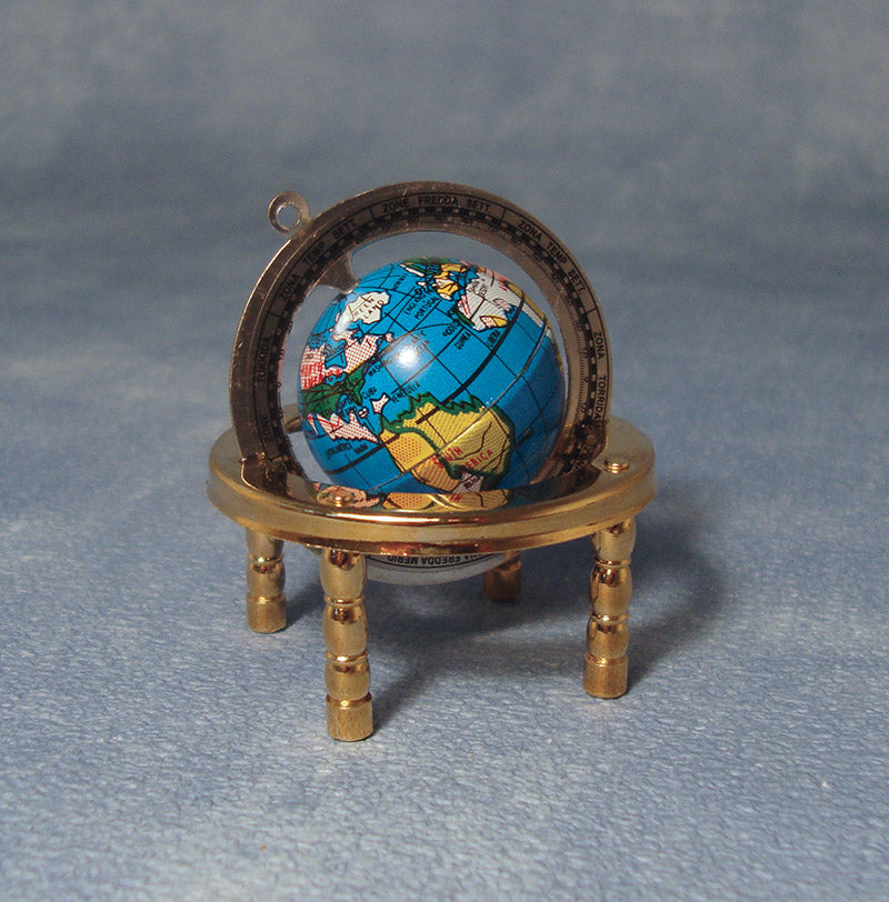 Dolls House Miniature Brass Globe, Study - The Dolls House Store