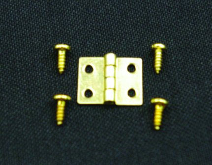 Dolls House Miniature 8mm Hinges & Screws 10 pk, DIY - The Dolls House Store