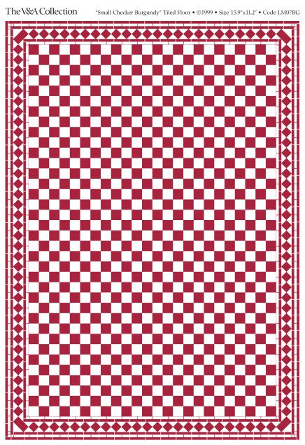 Dolls House Miniature Flooring Card Small Check Red, Flooring - The Dolls House Store
