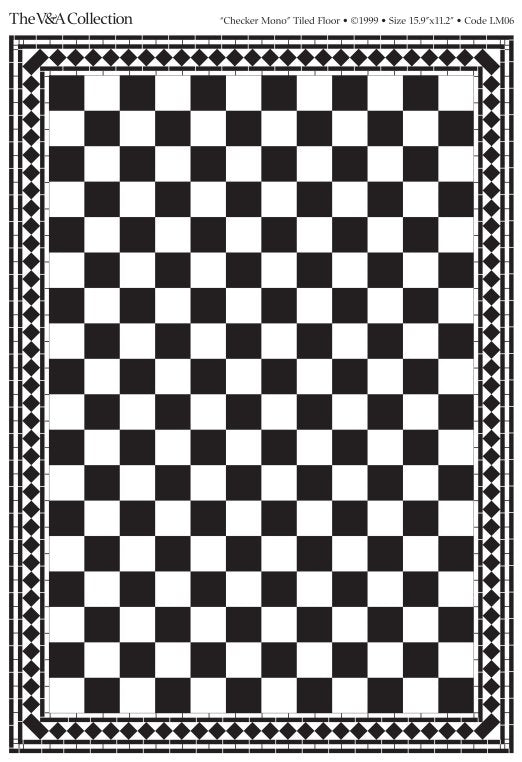 Dolls House Miniature Flooring Card Checker, Flooring - The Dolls House Store