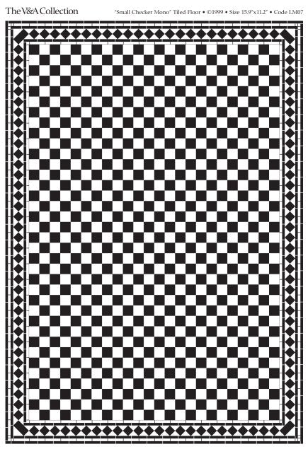 Dolls House Miniature Flooring Card Small Check Black, Flooring - The Dolls House Store