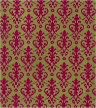 Dolls House Miniature Victorian Wallpaper Red / Gold, Wallpaper - The Dolls House Store