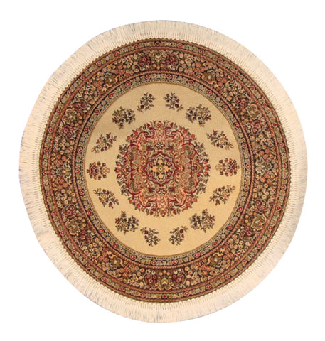 Dolls House Miniature Beige Turkish Rug, Flooring - The Dolls House Store