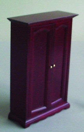 Dolls House Miniature Double Wardrobe, Bedroom - The Dolls House Store