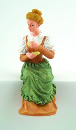 Dolls House Miniature Resin Doll Lady Sitting Holding Cup, Dolls and Resin Figures - The Dolls House Store