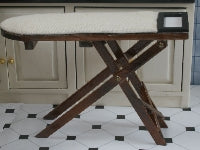 Dolls House Miniature Ironing Board Dark Wood, Laundry - The Dolls House Store
