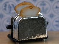 Dolls House Miniature Toaster With Toast, Kitchen - The Dolls House Store