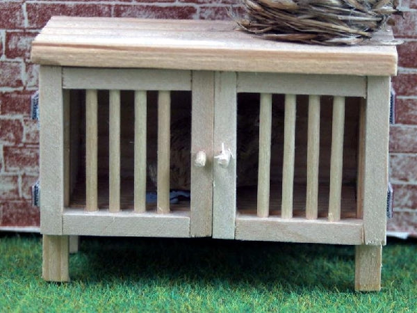 Dolls House Miniature Wooden Rabbit Hutch, Pets and Animals - The Dolls House Store