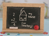 Dolls House Miniature Chalkboard, Nursery - The Dolls House Store