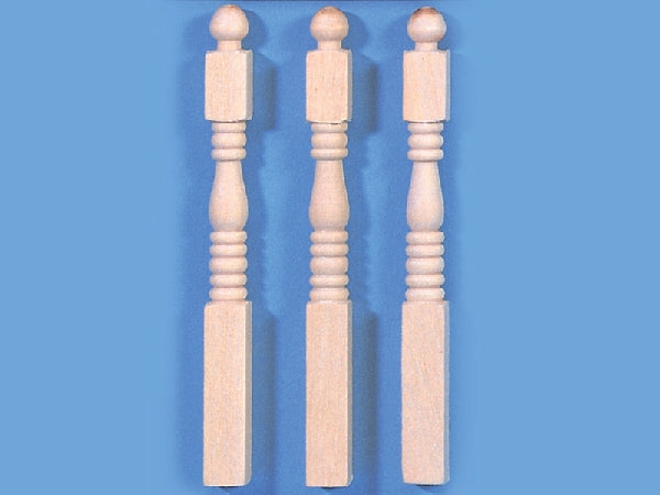 Dolls House Miniature Set Of 12 Newel Posts, DIY - The Dolls House Store